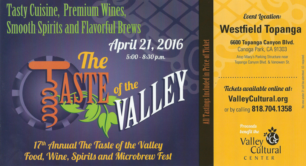 Taste of the Valley front